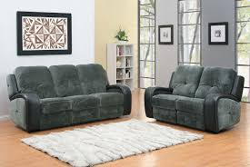 Microfiber Reclining Sofa Homelegance Flatbush Reclining Sofa Set Textured Plush