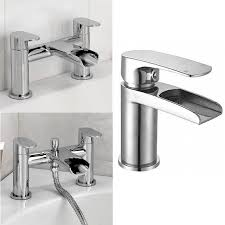 enki niagara waterfall design bath filler shower basin mixer bath shop categories