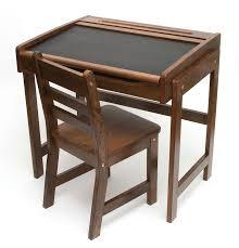 Kids Activity Desk by Child U0027s Chalkboard Desk U0026 Chair 2 Piece Set Walnut Finish