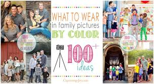 what to wear in family pictures by color capturing with