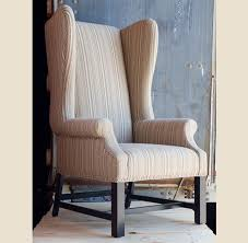 Armchair Chair Design Ideas Alluring Cream Fabric Flower Pattern Wing Chair Design Come With