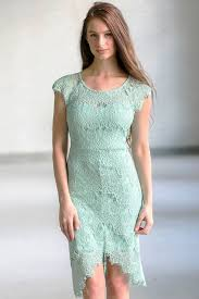 light sage lace high low sheath dress cute sage green lace dress