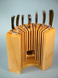 designer kitchen knives kitchen inspiring wooden knife block design ideas from slot to