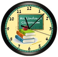 Personalized Home Decor Gifts Personalized Teacher Wall Clock Classroom Gift Decor Books