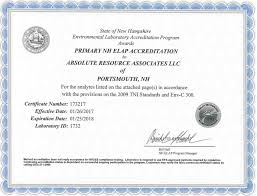 environmental lab certifications absolute resource associates