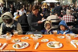 kirk douglas makes thanksgiving brighter for la s homeless daily
