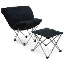 Butterfly Folding Chair Butterfly Chair In Black Microfiber