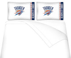 Okc Thunder Home Decor Amazon Com Nba Oklahoma City Thunder Twin Bedding Set Basketball