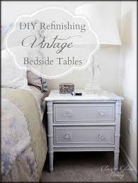 Vintage Bedside Tables Diy Refinishing Vintage Bedside Tables U2014 Classy Glam Living