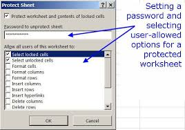 how to lock cells and protect worksheets in excel