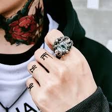 cool finger rings images Stainless steel cool skull claw dragon eyes rings jpg