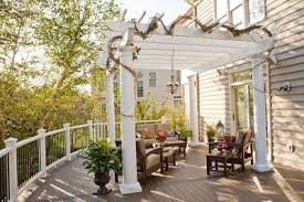 Build A Pergola On A Deck by Deck Furniture Pergolas And Outdoor Kitchens Trex