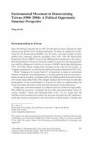 environmental movement in democratizing taiwan 1980 u20132004 a