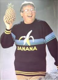 banana sweater just a wearing a banana sweater and holding a