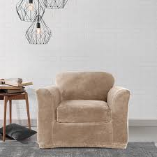sure fit chair slipcover sure fit stretch plush chair slipcover free shipping today