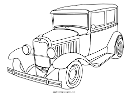 old car coloring pages in glum me