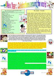 new year celebrations around the world worksheet free esl