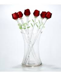 glass roses sweet deal on glass roses in glass vase