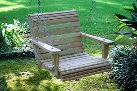 patio bench swing backyard ideas if a is too large for the space