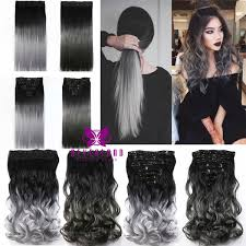 ladies hair pieces for gray hair wholesale neverland 1pcs 7pcs hair pad 24inch 60cm grey lady