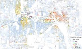 Map Of Minnesota Cities Twin Cities Racial Map Shows Minority Populations Concentrated In