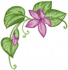 Flower Designs For Embroidery Corner Flower Free Machine Embroidery Design Creative Appliques
