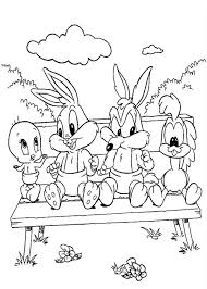 baby looney tunes characters backyard colouring