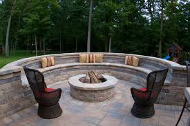 Stone Patio Images by Exterior Design How To Make A Backyard Design With Outdoor Fire