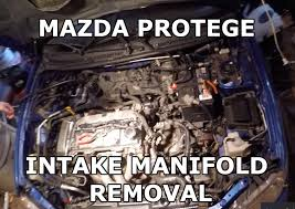 mazda protege intake manifold removal and replacement youtube