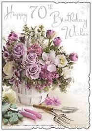 happy 70th birthday card female 70 lovely verse luxury card