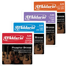 d addario ej16 phosphor bronze light acoustic guitar strings d addario phosphor bronze acoustic strings newark musical