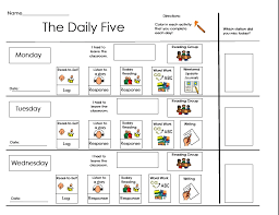the daily five printables classroom daily 5 printables images search