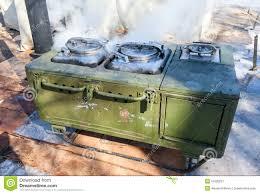cuisine mobile fourneau de cuisine mobile en métal image stock image du rond