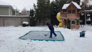 backyard ice rink bandit youtube