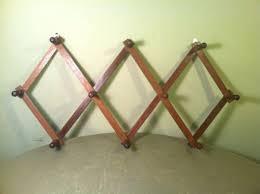 accordion wood folding mug rack wall coat hat hanger 10 peg