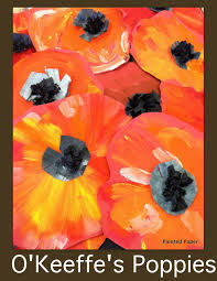 georgia o u0027keeffe u0027s poppies u2013 painted paper art
