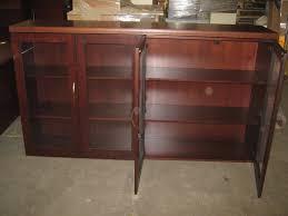 used u2013 kimball glass door hutch u2013 72 u2033 x 15 u2033 broadway office