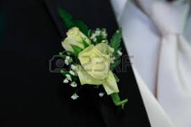 Groom S Boutonniere Peach Carnation Wedding Corsage On Groom Stock Photo Picture And