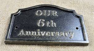 iron anniversary gifts 6th wedding anniversary plaque solid cast iron gifts by lumley