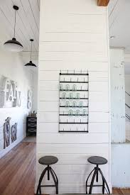 Painted Shiplap Walls Baroque Bakers Rack With Drawersin Kitchen Farmhouse With