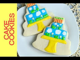 Decorating With Royal Icing Spring Birthday Cake Cookies Tutorial Decorating With Royal Icing