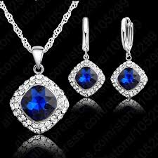 rhinestone necklace set images 925 sterling silver crystal necklace colorful crystal rhinestone jpg