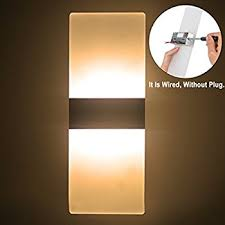 outreo modern acrylic 6w led wall sconces light lamp decorative