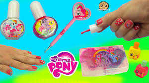 mlp nail polish kit with my little pony polka dot dotting tool