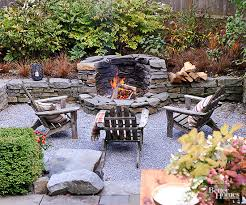 Gravel Fire Pit Area - creative fire pit designs and diy options
