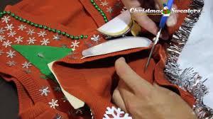 how do you put lights on a christmas tree how to add lights to a christmas sweater exle 1 youtube
