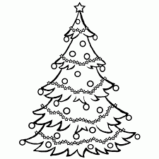 christmas tree coloring pages online coloring home