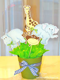jungle animal baby shower centerpieces babies and animal