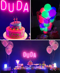 glow in the party supplies neon birthday decorations
