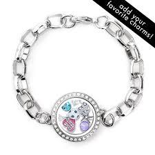 s charm bracelet cz floating charm locket bracelet